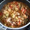 夏野菜たっぷりラタトゥイユと、賞味期限が切れてしまった生クリームで(!!)クリームブリュレを作りました。