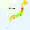Average Age by Prefecture in Japan, 2013