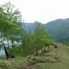 女峰山への道