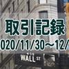2020/11/30週の米国株オプション取引(確定利益$790、含み益$545)