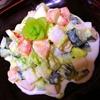 コロコロ蕪と胡瓜と海老の薫るえんどうマヨサラダ