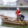 漕ぎに行ける木造和船、氷見の天馬船を漕いできた