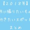 【2018年】1月に撮りたいもの・行きたいスポットまとめ!【東海中心】