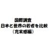 【国際調査】日本は自信のない若者が多い!?(充実感編)