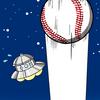 【メジャーリーグ】ホームランを打つ大谷翔平選手(エンゼルス)を描きました