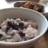 七草粥の代わりに小豆粥を食べました