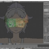 HoloLens特化のホロ恋子モデルを作成する その37(UV展開のシーム付けと左右ミラー)