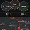つくば3週前、20kmレースペース走(3:40/km)
