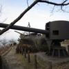 陸奥公園・戦艦陸奥の艦首・副砲など1。山口県大島郡周防大島町