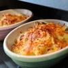 ハヤトウリでグラタンを作ろう。塩鮭と一緒に、ヘルシオオーブンでトロリと美味しい。
