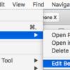 XcodeからショートカットでDerivedData消せるようにした