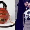 実際のバスケットボールのボール作られたハンドバッグ