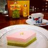 ひな祭り三色レアチーズケーキ♪<さっぽろのカフェスイーツ>