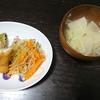 大葉チーズ春巻、チャプチェ、味噌汁