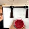 【カラーバターの赤】リアルレッドで黒髪に染めた仕上がり(ブリーチなし地毛)