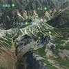 衛星写真で日本百名山の鷲羽岳を眺めてみよう Let's look at the satellite image of Mount Washiba, one of japan famous 100 mountains.