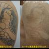 腕のスジボリタトゥー