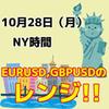 【10/28 NY時間】ユーロドル、ポンドドルの直近のレンジ