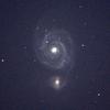子持ち銀河を撮影