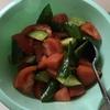 キュウリとトマトの簡単中華サラダ