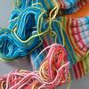 猛暑が去り、靴下を編み終えました