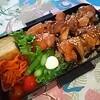 【男子中学生弁当】照焼きチキン丼 ケチャップ&ソースは光食品