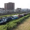 貨物列車撮影 8/4 EF64国鉄色 × クリーンかわさき号