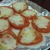 トースターでトマトのチーズ焼きが美味しい