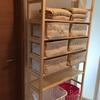 無印良品/組み立て家具も、最寄り店舗取り寄せ・店舗受け取りなら送料無料! 脱衣所の棚をパイン材シェルフにしました。