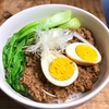 今夜もお家で台湾屋台気分♬ 魯肉飯的☆挽肉丼