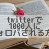 ツイッターで1000人にフォロバされる方法♡≪期間限定参加者募集≫