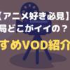 【アニメ好き必見】結局どこがイイの??おすすめVOD紹介!