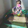 【簡単!】狭いベランダに砂場を作った!【おうち遊び】