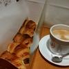 サンマルクカフェ「チョコクロ」「カフェラテ」