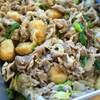 豚肉と里芋の揚げ団子 の生姜焼き