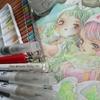 メイキング】水彩+色鉛筆で女の子のページを塗ってみました☆SSぬりえより