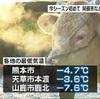 阿蘇は氷点下10度下回る 熊本市で氷点下4度7分