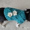 セリアの毛糸「なないろ彩色」で編むチワワのセーター