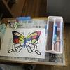 2年生:図工 水彩絵の具の練習