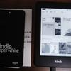 Kindleを使ってみたくて、paperwhiteの旧型を購入しました。