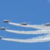 岐阜基地航空祭 2011... 長良川土手からブルーの事前訓練飛行を見る