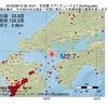2016年08月13日 08時16分 安芸灘でM2.7の地震
