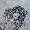 工程#6-花丸ちゃん!!つ、ついに刺し終える***GALAXY HidE and SeeK/AZALEAを黒糸刺繍で仕上げる**サンシャイン!!-ジャケ刺繍