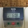 今朝の体重
