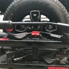 バックカメラ取り付け、JLラングラー を真似てスペアタイヤの中に取り付けた。