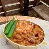 豚厚切り肉で生姜焼き弁当