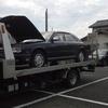 花見川区から他人名義の車検切れ不動車をレッカー車で廃車の引き取りしました。