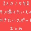 【2017年】11月に撮りたいもの・行きたいスポットまとめ!【東海中心】