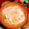 ふわふわ蕎麦粉はんぺんの柚子香る雪かぶり鍋