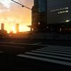 ★JR大阪駅中央口前の夕暮れ